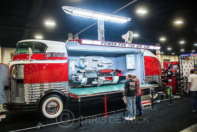 Chris Detrick  |  The Salt Lake Tribune<br /> Rick White's, of Salt Lake City, 1939 GM Futurliner on display during the 41st Annual O&rsquo;Reilly Auto Parts AutoRama at South Towne Expo Center Friday March 20, 2015.  AutoRama will allow spectators to view hundreds of custom cars, classics, hot rods, trucks, motorcycles and race cars on display plus see celebrities like those from &ldquo;Street Outlaw&quot; and more. The show runs daily at the South Towne Expo Center in Sandy through Sunday.