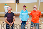 Tony Hussey, Geraldine Hanlon and Mark Dupuis attending the Ballyheigue Community Alert meeting in the Community Centre on Tuesday evening.