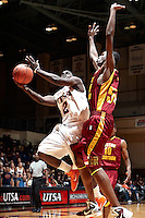 SAN ANTONIO, TX - NOVEMBER 12, 2010: The Huston-Tillotson University Rams vs. the University of Texas at San Antonio Roadrunners Men's Basketball at the UTSA Convocation Center. (Photo by Jeff Huehn)
