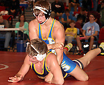 SIOUX FALLS, SD - DECEMBER 28:  Alex Davies from Canton has control of Jake Brower from Watertown in their 160 pound championship match Saturday afternoon December 28, 2013 at Lincoln High School in Sioux Falls, South Dakota. (Photo by  Dave Eggen/Inertia)