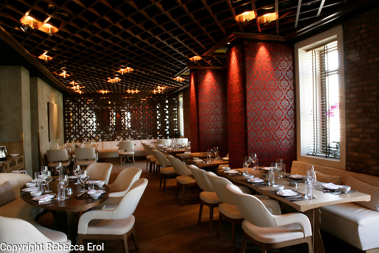 The restaurant of the W Hotel in Istanbul, Turkey