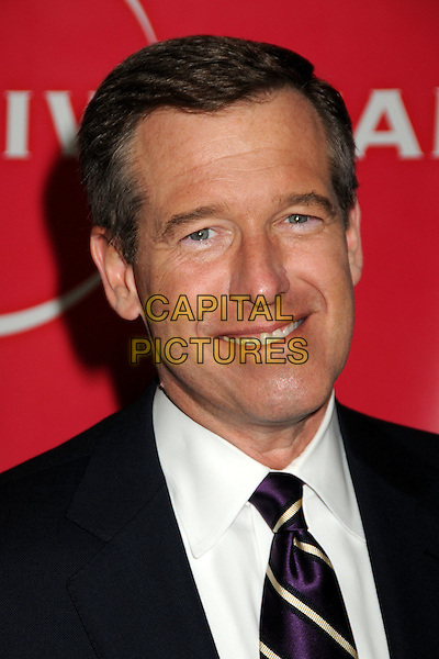 BRIAN WILLIAMS .NBC Universal Press Tour Cocktail Party held at the Langham Hotel, Pasadena, California, USA, 10th January 2010..portrait headshot navy blue tie white shirt smiling purple striped .CAP/ADM/BP.©Byron Purvis/AdMedia/Capital Pictures.