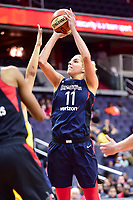 Washington, DC - June 15, 2018: Washington Mystics guard Elena Delle Donne (11) hits a jump shot during game between the Washington Mystics and Chicago Sky at the Capital One Arena in Washington, DC. (Photo by Phil Peters/Media Images International)