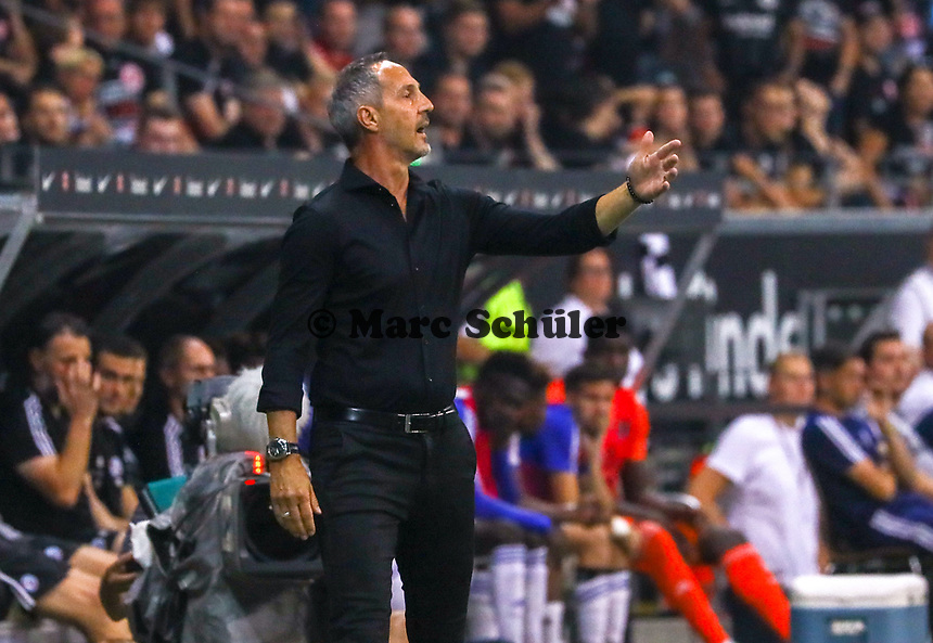 Trainer Adi Hütter (Eintracht Frankfurt) - 29.08.2019: Eintracht Frankfurt vs. Racing Straßburg, UEFA Europa League, Qualifikation, Commerzbank Arena<br /> DISCLAIMER: DFL regulations prohibit any use of photographs as image sequences and/or quasi-video.