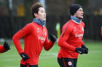 Daichi Kamada (Eintracht Frankfurt), Danny Blum (Eintracht Frankfurt) - 29.12.2017: Eintracht Frankfurt Training, Commerzbank Arena