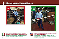 ENEL-manuale multilingua sulla sicurezza 'Safety book 24/7' divisione GEM ..