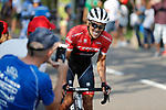 Alberto Contador (ESP) Trek-Segafredo attacks during Stage 19 of the 2017 La Vuelta, running 149.7km from Caso. Parque Natural de Redes to Gij&oacute;n, Spain. 8th September 2017.<br /> Picture: Unipublic/&copy;photogomezsport | Cyclefile<br /> <br /> <br /> All photos usage must carry mandatory copyright credit (&copy; Cyclefile | Unipublic/&copy;photogomezsport)