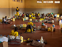 Inmates and their possessions in Nakasangola Prison. The high security facility is Uganda's newest prison, built in 2007 for 600 inmates, it houses 667 men and 22 women.