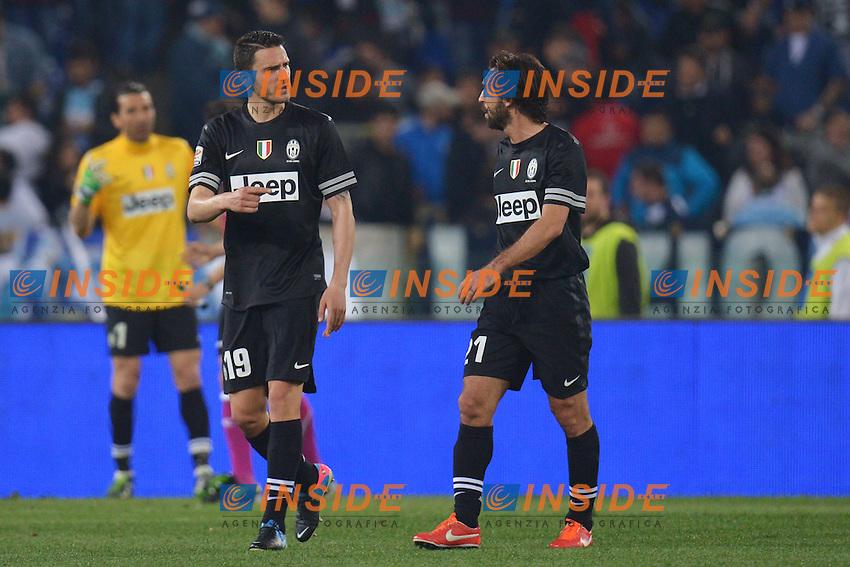Leonardo Bonucci e Andrea Pirlo .Roma 15/04/2013 Stadio Olimpico.Football Calcio 2012/2013 Serie A.Lazio Vs Juventus.Foto Andrea Staccioli Insidefoto
