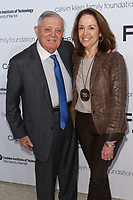 John and Laura Pomerance arrive at the Future of Fashion 2017 runway show at the Fashion Institute of Technology on May 8, 2017.