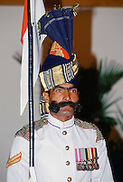 Pakistani soldier in ceremonial uniform in Lahore, Pakistan