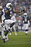 17 October 2009:  Penn State LB Navorro Bowman (11) celebrates after a  tackle in the back field.  The Penn State Nittany Lions defeated the Minnesota Golden Gophers 20-0 at Beaver Stadium in State College, PA..