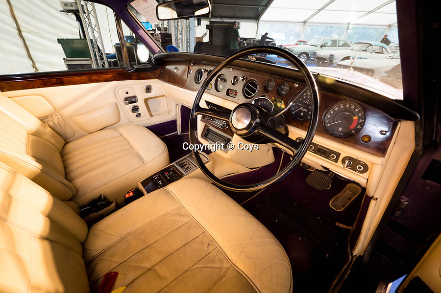 BNPS.co.uk (01202 558833)<br /> Picture: Coys/BNPS <br /> <br /> A purple Rolls-Royce once owned by legendary drummer Keith Moon has emerged for sale for £30,000.<br /> <br /> The Who musician bought the garish Corniche from new in 1972 and it formed part of his vast collection of luxury cars.<br /> <br /> The rocker owned a number of Rolls-Royces at the height of his fame and famously once drove one of them into a swimming pool.<br /> <br /> Thankfully, this car avoided such a fate and has survived to come up on the market 41 years after Moon's death in 1978.