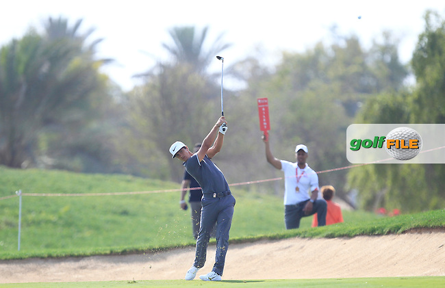 Thorbjorn Olesen (DEN) on the 18th fairway during Round 3 of the Abu Dhabi HSBC Championship on Saturday 21st January 2017.<br /> Picture:  Thos Caffrey / Golffile<br /> <br /> All photo usage must carry mandatory copyright credit    ( &copy; Golffile | Thos Caffrey)