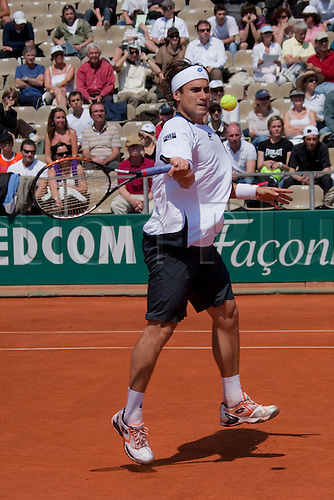 MONTE CARLO, MONACO. 15/04/2010 David Ferrer (ESP) in action during the third round of the ATP Monte Carlo Masters tennis tournament held in the Monte Carlo Country Club, Monaco,  from the 12th to the 18th April.