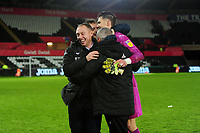 Steve Cooper Head Coach of Swansea City celebrates at full time during the Sky Bet Championship match between Swansea City and Charlton Athletic at the Liberty Stadium in Swansea, Wales, UK.  Thursday 02 January 2020