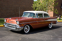 1957 Contemporary Junior (#134) – 1957 Chevrolet 210 2-Door Sedan registered to Jim Obermeyer is pictured during 4th State Representative Chevy Show on Friday, July 1, 2016, in Fort Wayne, Indiana. (Photo by James Brosher)