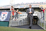 20 September 2014: Carolina broadcaster Jason Garey. The Carolina RailHawks played the New York Cosmos at WakeMed Stadium in Cary, North Carolina in a 2014 North American Soccer League Fall Season match. Carolina won the game 5-4.
