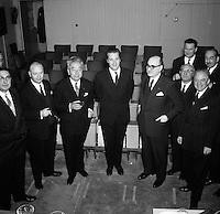 Bezoek Prins Albert aan werf Ronquieres in 1963.