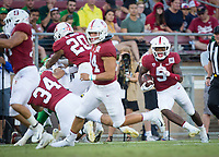Stanford, CA - September 21, 2019: Connor Wedington at Stanford Stadium. The Stanford Cardinal fell to the Oregon Ducks 21-6.