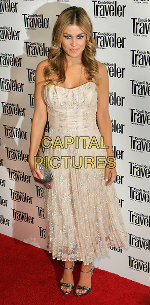 CARMEN ELECTRA.At the Conde Nast Traveler 19th Annual Readers' Choice Awards at the American Museum of Natural History, New York, NY, USA..October 16th, 2006.Ref: ADM/JL.full length cream strapless dress silver clutch purse.www.capitalpictures.com.sales@capitalpictures.com.©Jackson Lee/AdMedia/Capital Pictures.