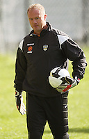 Goalkeeping coach Jonathan Gould during the Wellington Phoenix A-League football training session Training Session at Newtown Park, Wellington, New Zealand on Monday, 4 May 2009. Photo: Dave Lintott / lintottphoto.co.nz