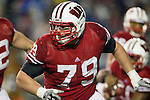 Wisconsin Badgers offensive lineman Ryan Groy (79) during an NCAA Big Ten Conference college football game against the Penn State Nittany Lions on November 26, 2011 in Madison, Wisconsin. The Badgers won 45-7. (Photo by David Stluka)