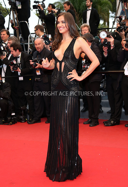 WWW.ACEPIXS.COM....US Sales Only....May 22 2013, Cannes....Irina Shayk at the premiere of 'All Is Lost' during the 66th Cannes Film Festival on May 22 2013 in France ....By Line: Famous/ACE Pictures......ACE Pictures, Inc...tel: 646 769 0430..Email: info@acepixs.com..www.acepixs.com
