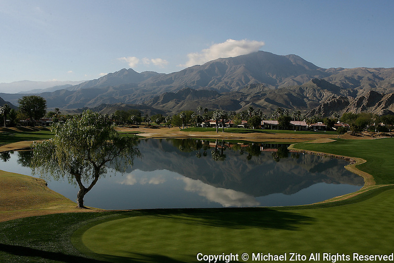 January 23, 2009:  A Look from the 18th green on the Nicklaus Private  PGA West, La Quinta, California