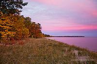 Lake Superior sunrise, autumn, east Marquette