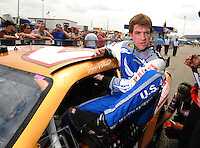 Apr 26, 2008; Talladega, AL, USA; NASCAR Sprint Cup Series driver Jon Wood during qualifying for the Aarons 499 at Talladega Superspeedway. Mandatory Credit: Mark J. Rebilas-
