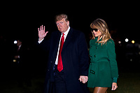 Donald Trump and Melania Trump Returns to the White House from their surprise trip to Al Asad