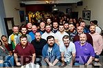 Kenneth Ryle, front Lt, organised a Movember grow a beard challenge, in the Slievemish bar and all the participants gathered in the bar last Saturday night to have their beards removed in aid of Recovery Haven, Tralee.