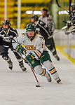 1 February 2015: University of Vermont Catamount Defender Katherine Pate, a Freshman from Saco, Maine, in first period action against the visiting Providence College Friars at Gutterson Fieldhouse in Burlington, Vermont. The Lady Cats defeated the Friars 7-3 in Hockey East play. Mandatory Credit: Ed Wolfstein Photo *** RAW (NEF) Image File Available ***