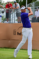 Ian Poulter (GBR) watches his tee shot on 17 during round 2 of the Valero Texas Open, AT&amp;T Oaks Course, TPC San Antonio, San Antonio, Texas, USA. 4/21/2017.<br /> Picture: Golffile | Ken Murray<br /> <br /> <br /> All photo usage must carry mandatory copyright credit (&copy; Golffile | Ken Murray)