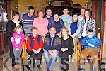 Larry Whitmore, Killorglin and Essex, England who celebrated his 60th birthday with his family and friends in the Killarney Avenue Hotel on Saturday front row l-r: Holly Richardson, Sheila Doona, Larry and Helen Whitmore and Jack Healy. Back row: Bridget Richardson, Mike Foley, Mary Healy, Adrian Richardson, Helen Foley, Michael Foley, Kerry Richardson, Mike Healy and Melissa Foley