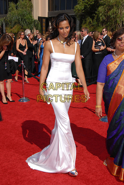 PADMA LAKSHIMI.Arrivals - 59th Annual Primetime Emmy Awards held at the Shrine Auditorium, Los Angeles, California , USA,.16 September 2007..full length long white dress.CAP/ADM/BP.©Byron Purvis/AdMedia/Capital Pictures.