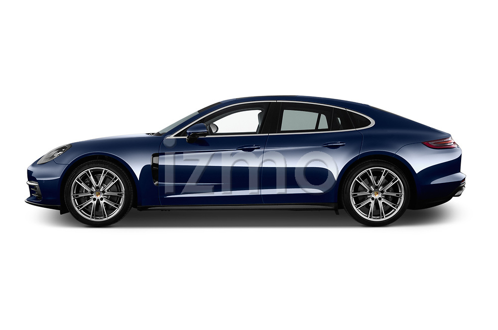 Car driver side profile view of a 2018 Porsche Panamera 4S 5 Door Hatchback