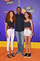 Michael Strahan, Sophia Strahan &amp; Isabella Strahan at the Nickelodeon Kids' Choice Sports Awards 2018 at Barker Hangar, Santa Monica, USA 19 July 2018<br /> Picture: Paul Smith/Featureflash/SilverHub 0208 004 5359 sales@silverhubmedia.com