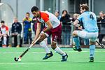 ALMERE - Hockey - Hoofdklasse competitie heren. ALMERE-HGC (0-1) . Daniel de Haan (Almere) met rechts Willem Rath (HGC) .    COPYRIGHT KOEN SUYK