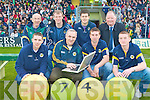 KERRY LOTTO: Launching the Kerry GAA Internet Lotto at Austin Stack Park on Sunday front l-r: Back l-r: Mark O'Se?, John Joe O'Carroll, Tom Murnane and James McCarthy.  Peter Twiss, Diarmuid Murphy, Padraig Reidy and Jerome Conway.