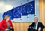 BRUSSELS - BELGIUM - 21 January 2015 -- Erna SOLBERG, Prime Minister of Norway visiting Jean-Claude JUNCKER the President of the European Commission. -- Photo: Juha ROININEN / EUP-IMAGES / Prime Ministers Office