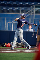 Jace Bohrofen (39) during the Under Armour All-America Game Practice, powered by Baseball Factory, on July 21, 2019 at Les Miller Field in Chicago, Illinois.  Jace Bohrofen attends Westmoore High School in Oklahoma City, OK and is committed to the University of Oklahoma.  (Mike Janes/Four Seam Images)