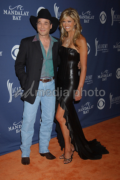 May 26, 2004; Las Vegas, NV, USA; Musician CLINT BLACK and NANCY O'DELL during the 39th Annual Academy of Country Music Awards held at Mandalay Bay Resort and Casino. Mandatory Credit: Photo by Laura Farr/AdMedia. (©) Copyright 2004 by Laura Farr