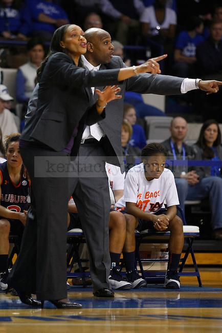 Auburn head coach Terri Williams-Flournoy during the first half of the UK Hoops vs. Auburn women's basketball game at Memorial Coliseum in Lexington, Ky., on Sunday, January 20, 2013. Photo by Tessa Lighty | Staff