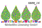 Kate, CHRISTMAS SYMBOLS, WEIHNACHTEN SYMBOLE, NAVIDAD SÍMBOLOS, paintings+++++trees with presents,GBKM16,#xx#