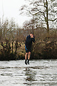 01/01/2017<br /> <br /> New Year's Day revellers jump off Mappleton Bridge into the river below near Ashbourne in the Derbyshire Peak District. Donations were made for a local boy who was recently diagnosed with cancer. <br /> <br /> All Rights Reserved: F Stop Press Ltd. +44(0)1773 550665   www.fstoppress.com