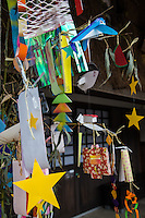 """The Tanabata Festival celebrates the meeting of Vega and Altair as """"star crossed lovers"""". Sometimes this is called the Star Tanabata. The Milky Way separates these lovers, and they are allowed to meet only once a year on the seventh day of the seventh lunar month of the lunar calendar. Since the stars come out at night, the celebration is held at night."""