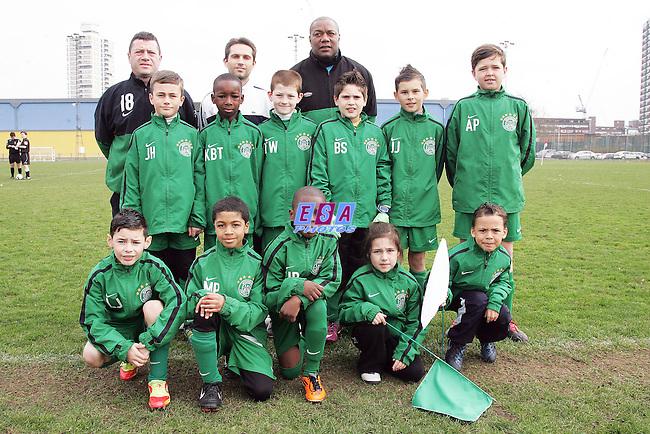 WELLING UNITED v INTERWOOD<br /> LONDON FA CUP (U10) FINAL SUNDAY 11TH MARCH 2012 MILE END STADIUM