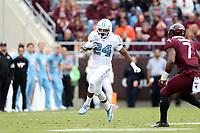 BLACKSBURG, VA - OCTOBER 19: Antonio Williams #24 of the University of North Carolina runs the ball during a game between North Carolina and Virginia Tech at Lane Stadium on October 19, 2019 in Blacksburg, Virginia.